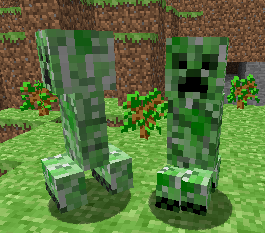 creepers en minecraft