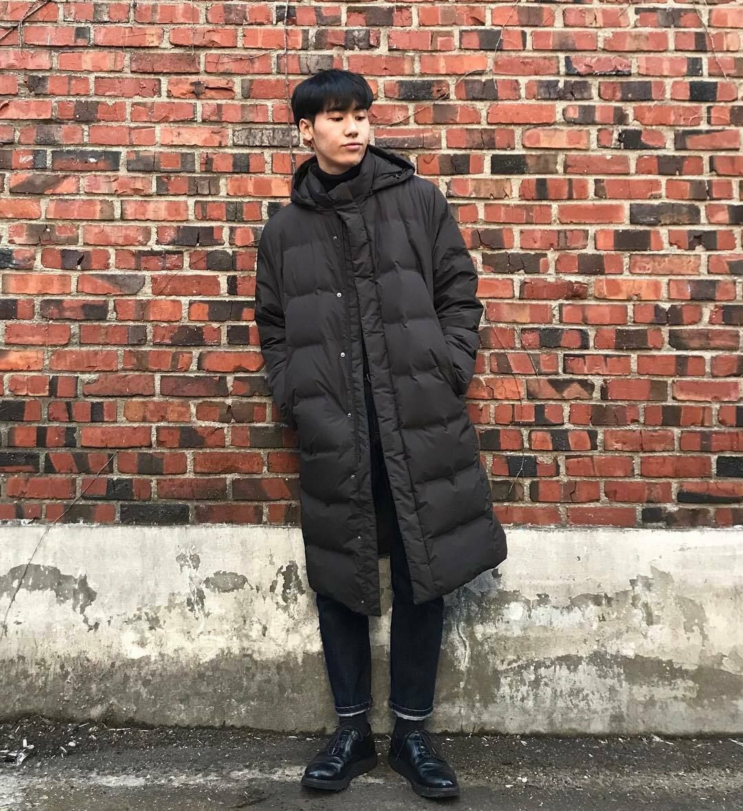 Uniqlo Men Seamless Down Long Coat Water Repellent Hooded Puffer Jacket S M 179 99 Uniqlo Men Mens Puffer Coat Puffer Jacket Black [ 1179 x 1080 Pixel ]