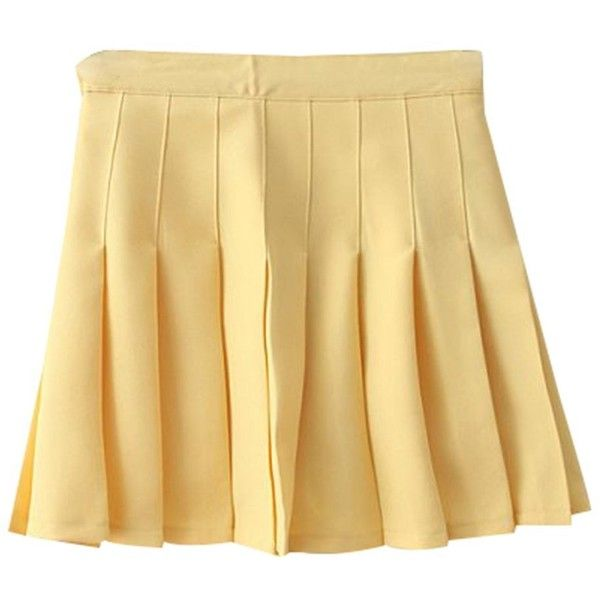 de83cad65 Yasong Women Girls Short High Waist Pleated Skater Tennis Skirt School...  ($17) ❤ liked on Polyvore featuring skirts, bottoms and shorts