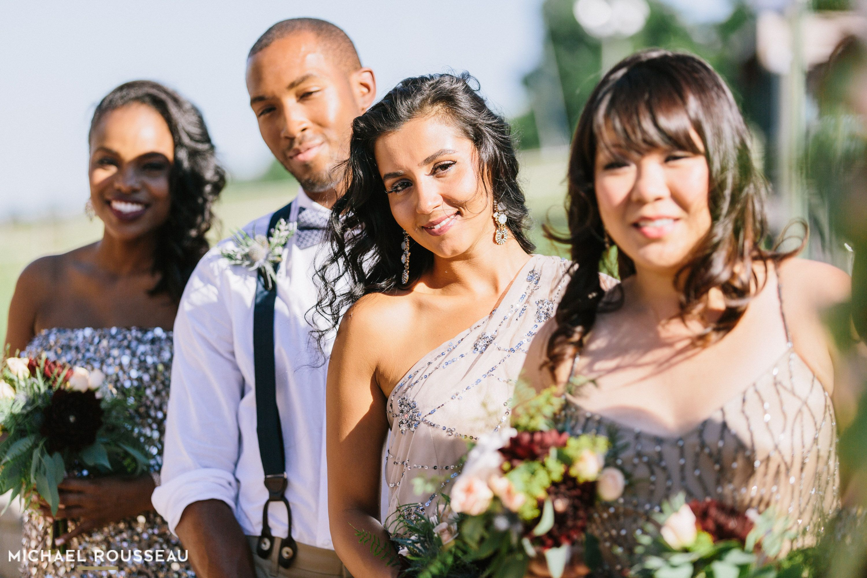 bridesmaid hair, sequin dress, bridesmaid dress, male bridesmaid, african american hairstyles