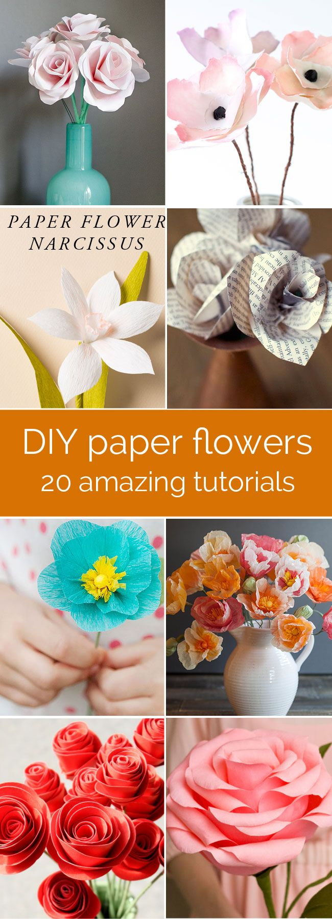 How to make GORGEOUS paper flowers | 20 DIY flower tutorials