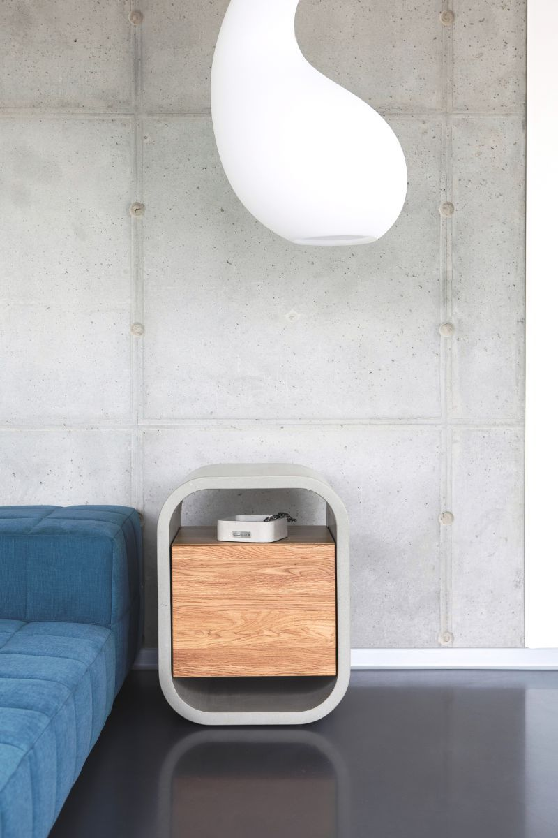 cooler nachttisch aus beton und holz   beton, stein & marmor in 2018