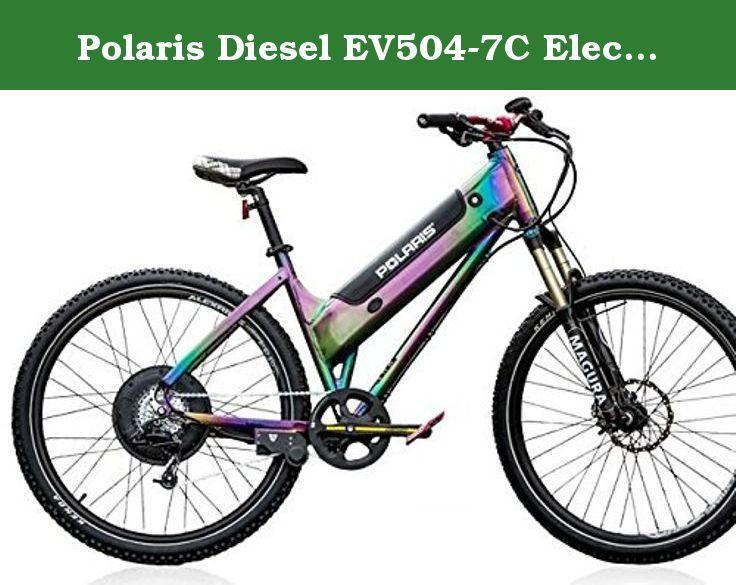 Polaris Diesel Ev504 7c Electric Mountain Bike From Shocking Rides Frame 6061 T 6 Alloy Color Titanium Oxide Limi Electric Bicycle Electric Mountain Bike Bike