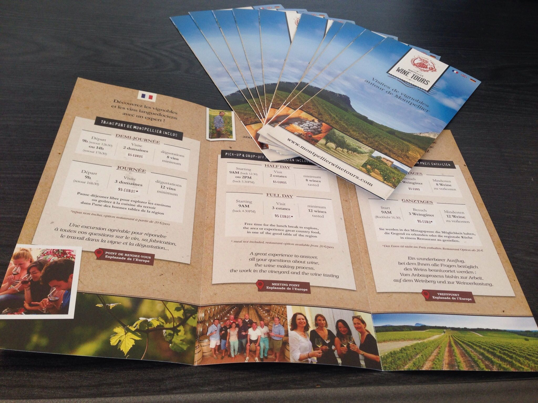 Flyers Montpellier wine tours