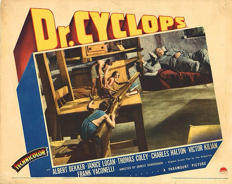 DR CYCLOPS Lobby Card Movie Poster