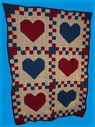 Ravelry Country Hearts Crochet Quilt Pattern By Cl Halvorson