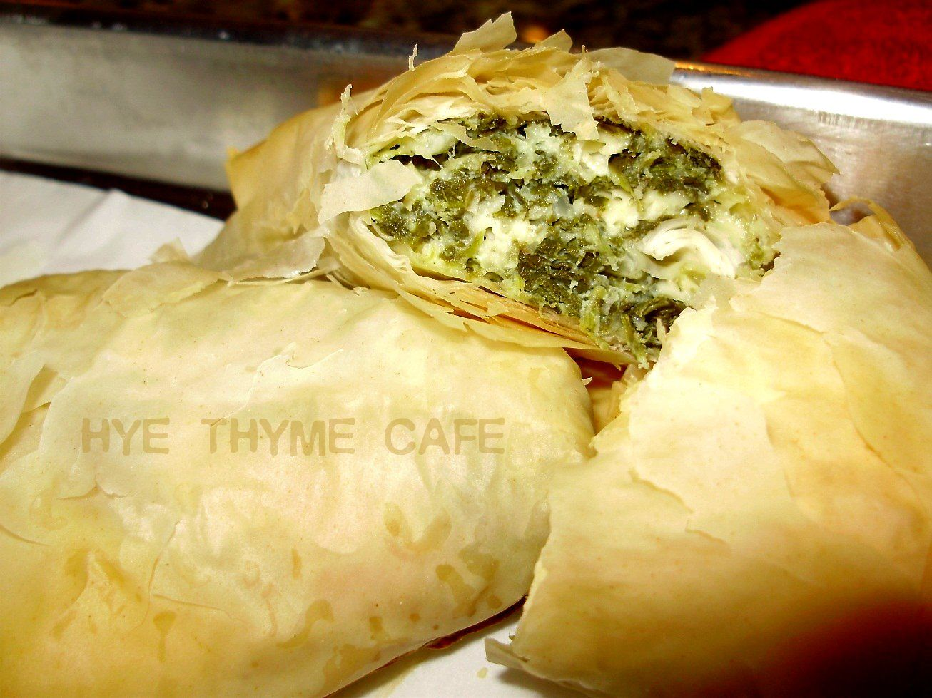 Hye thyme cafe spinach bouregs spanakopita with images