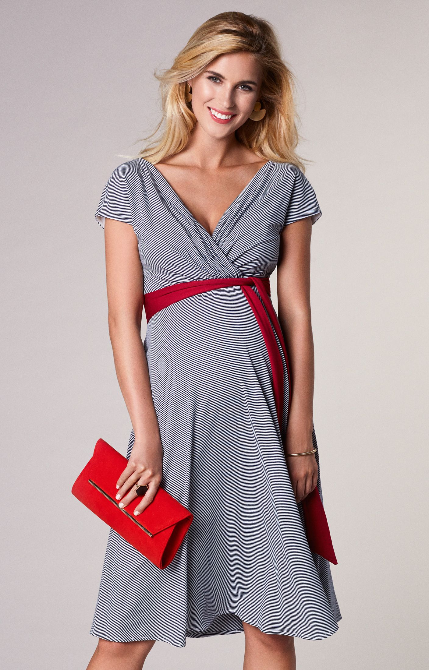 029cf0f1e5c With the same navy and white nautical stripes of our Alana maxi maternity  dress but in a classic knee length version