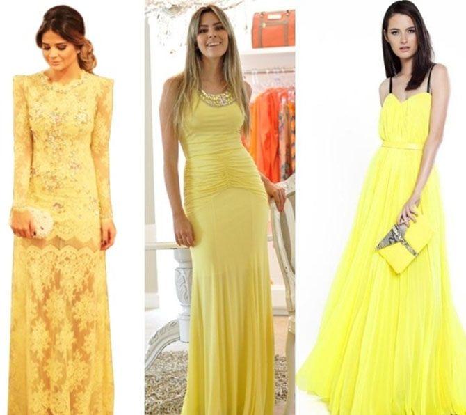Confira uma seleção de vestidos para madrinhas de casamento amarelos para inspirar quem adora essa cor linda e vibrante: Confira mais inspirações de vestidos para madrinhas de casamento AQUI...
