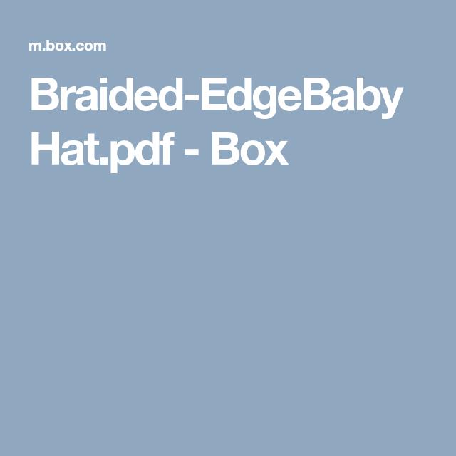 Braided Edgebabyhatpdf Box Braids Longer Hair Styles