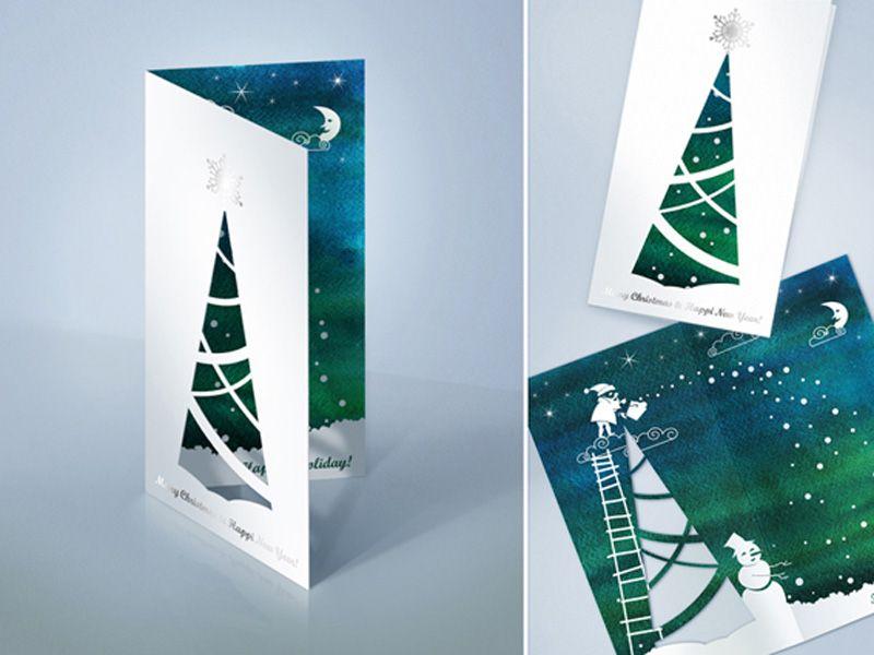из-за корпоративные открытки на новый год с вырубкой времена одного пакетика
