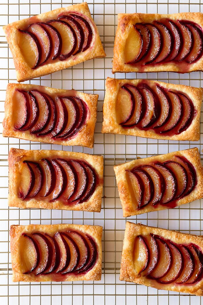 Easy Maple Plum Puff Pastry Tarts - Fork Knife Swoon