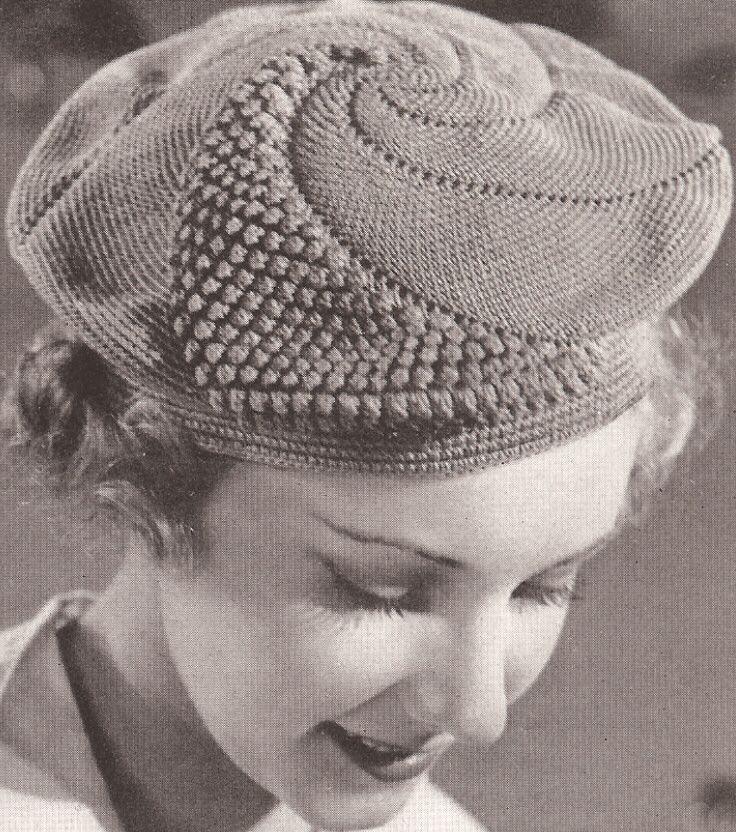 Vintage Knitting Pattern Beret : Vintage Popcorn Beret & Purse Handarbeiten ? Crafts ? Labores . ?LaVidaCo...