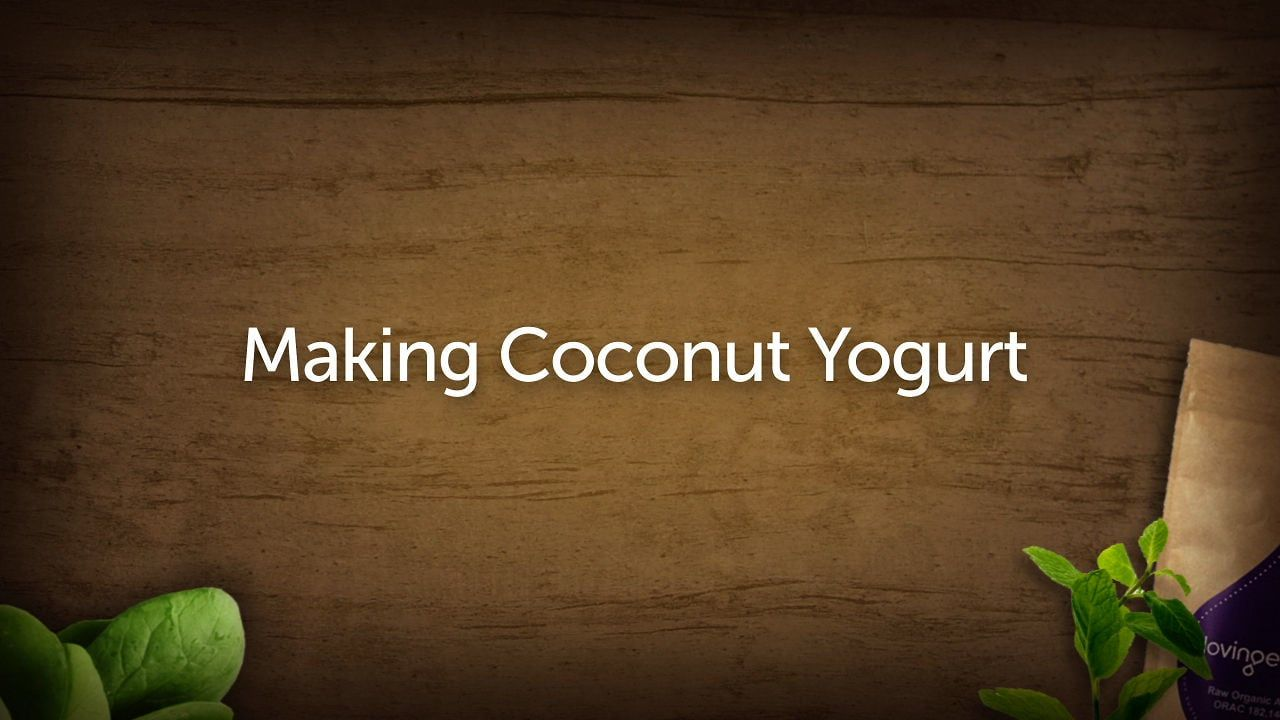 Making Coconut Yogurt