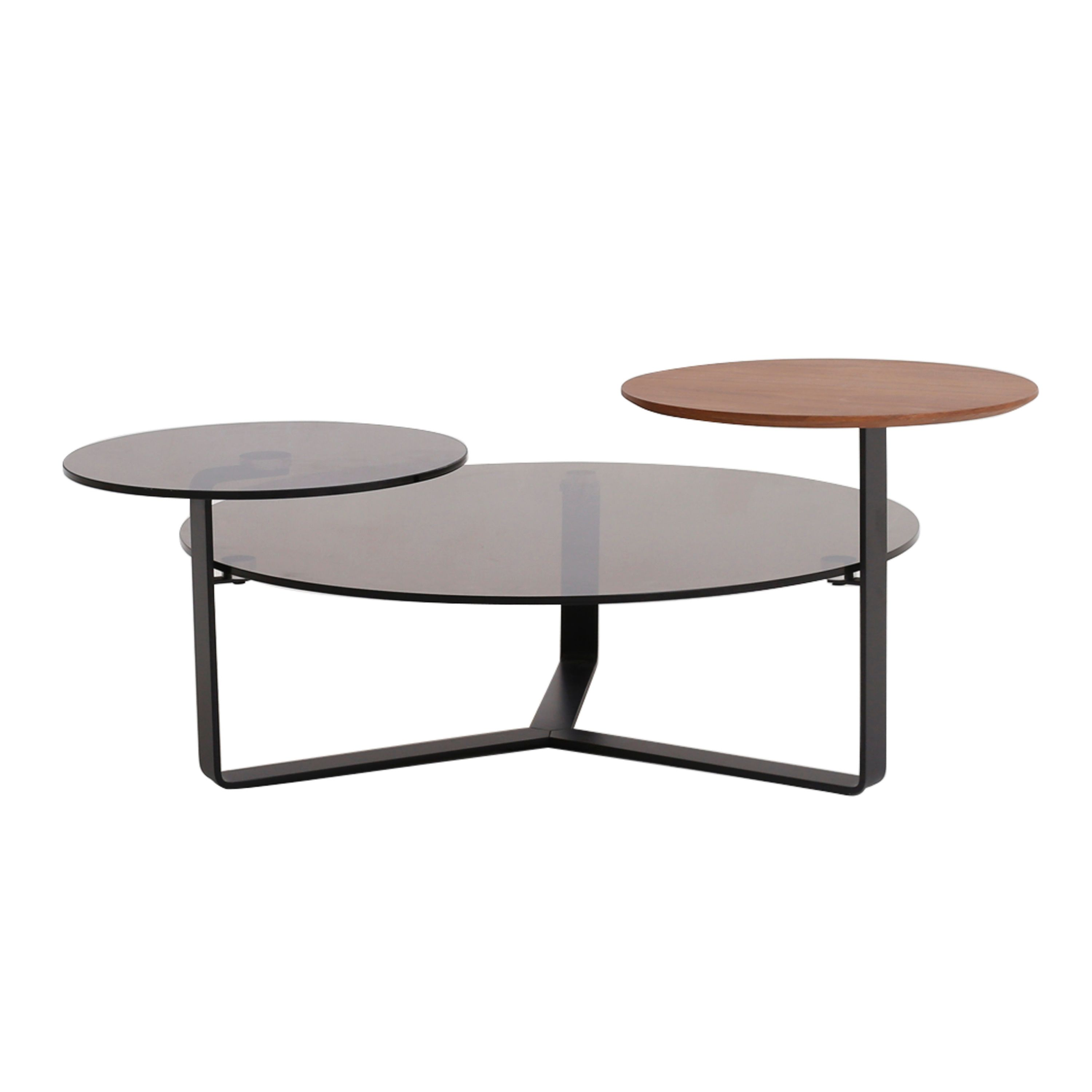 Norris Kd Round Coffee Table Black Frame Glass Walnut 1030004 Coffee Table Table Round Coffee Table [ 3000 x 3000 Pixel ]