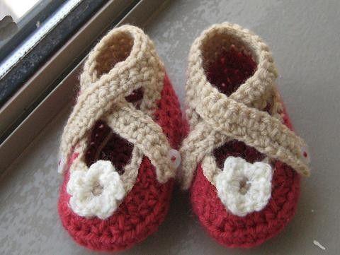 X-strap crochet baby bootie | niños | Pinterest | Zapatitos crochet ...