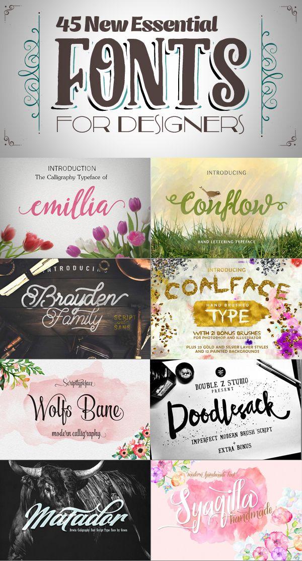 http://goo.gl/UYrF5y 45 New Essential Fonts for Designers #fontsfordesigners #bestfonts #creativefonts