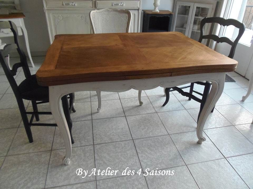 table ancienne en ch ne style louis xv avec rallonges l 39 italienne 2x45 cm pi tement patin. Black Bedroom Furniture Sets. Home Design Ideas