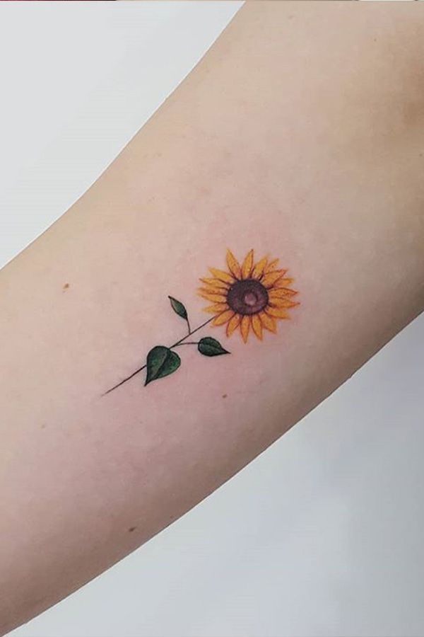 Simple sunflower tattoo designs to wear your favorite flower on your skin