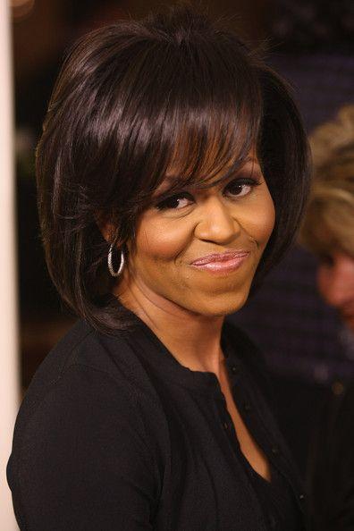 Michelle Obama Bob Michelle Obama Hairstyles Michelle Obama Michelle And Barack Obama