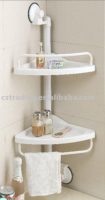 cuarto de baño ducha cocina estante de la esquina ...