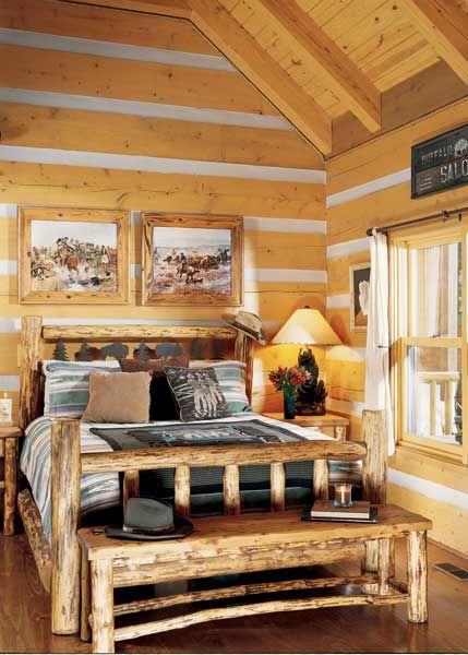 Phenomenal Rustic Log Cabin Bedroom Retirement Dream Home Log Home Download Free Architecture Designs Pendunizatbritishbridgeorg