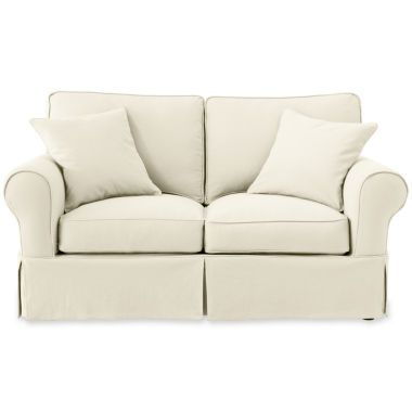 Fantastic Friday Twill Slipcovered Loveseat Found At Jcpenney Decor Creativecarmelina Interior Chair Design Creativecarmelinacom