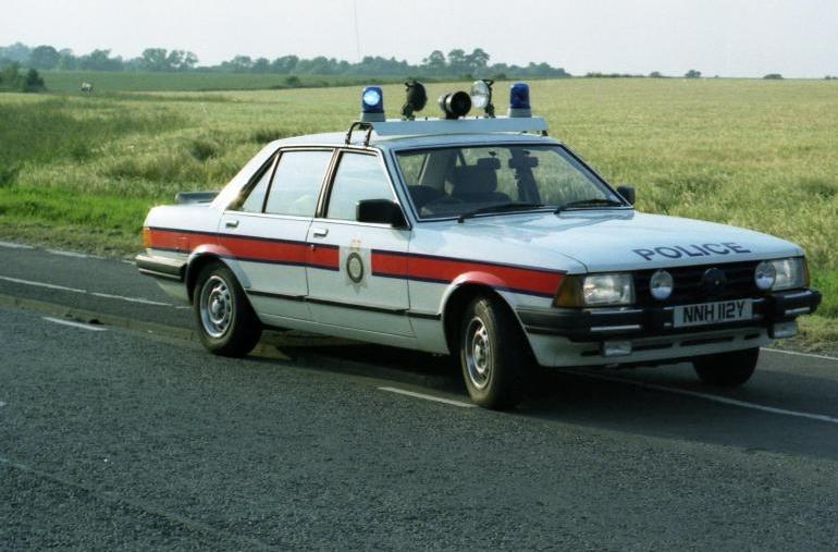 British 1982 Ford Granada 2 8 Police Cars British Police Cars