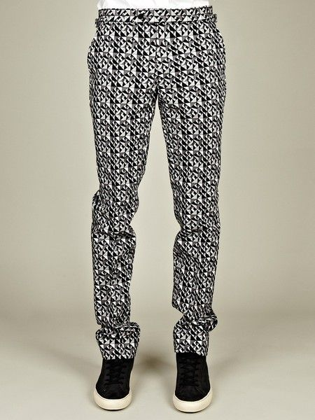baby purchase cheap picked up A.Sauvage Mens Allover Print Trousers   a.Sachchi   Well ...