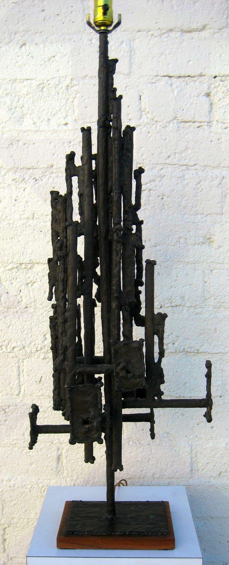 A Sculptural Brutalist Lamp by California Artist Robert Moore ...