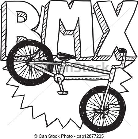 Vectors Of Bmx Bike Sketch