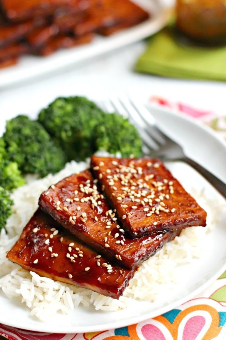 Baked Teriyaki Tofu Gluten Free Oil Free Veggies Save