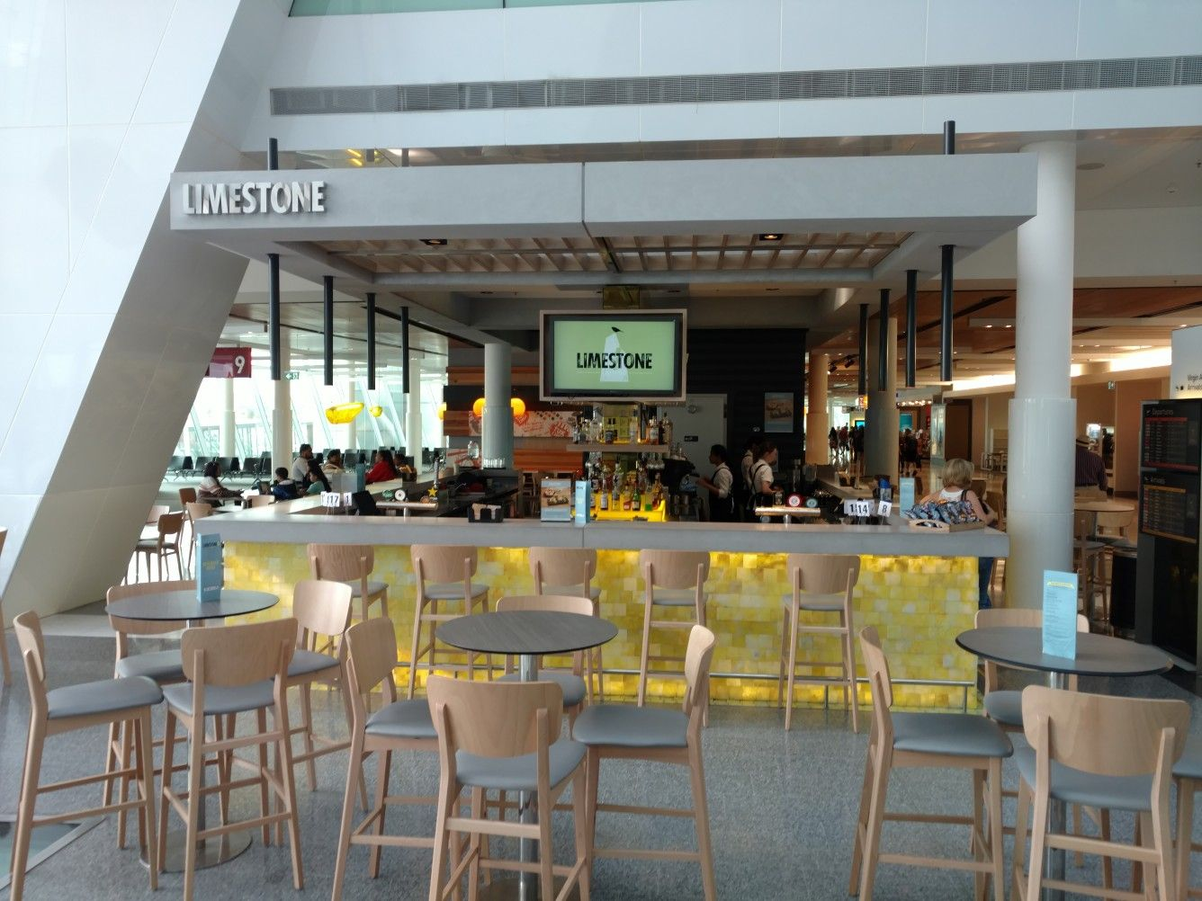 limestone bar at canberra airport