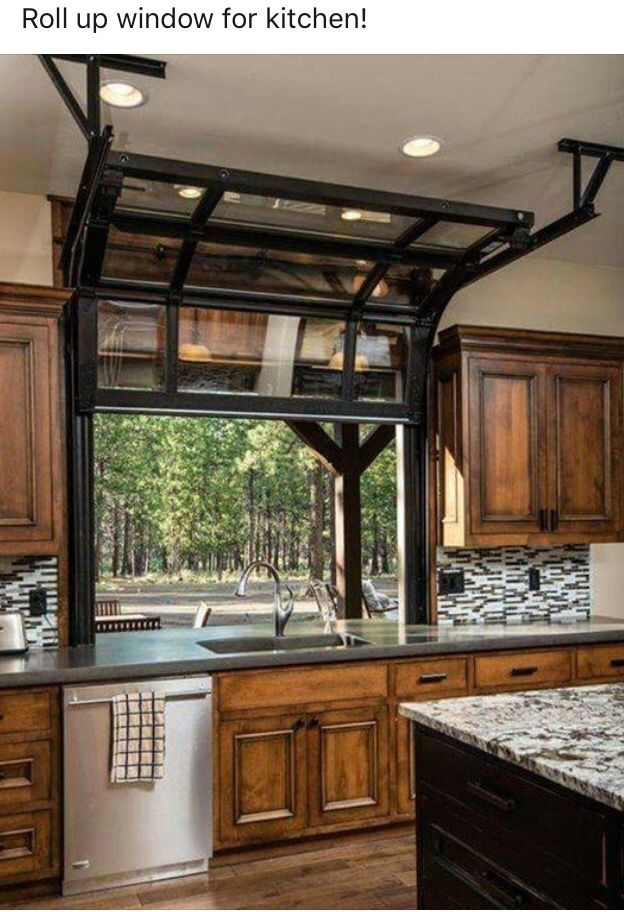 Rollup Window For The Kitchen Home House Design House Plans