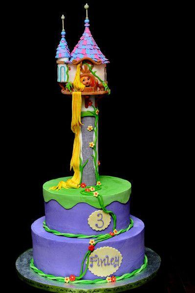 Birthday Cake Rapunzel Paisleys party Pinterest Rapunzel