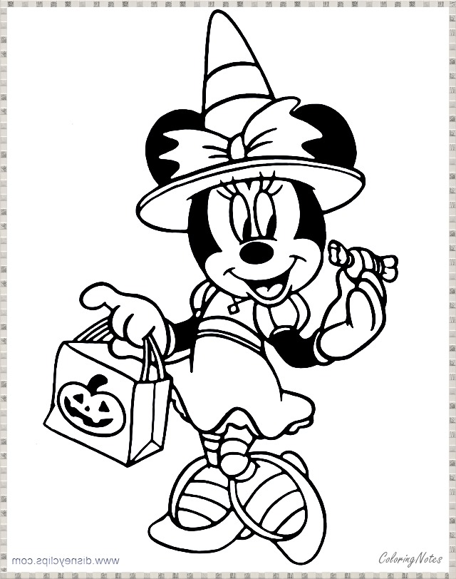 Disney Halloween Coloring Pages Minnie Mouse Disney Halloween Coloring Pages Minnie Mouse Coloring Pages Halloween Coloring Pages