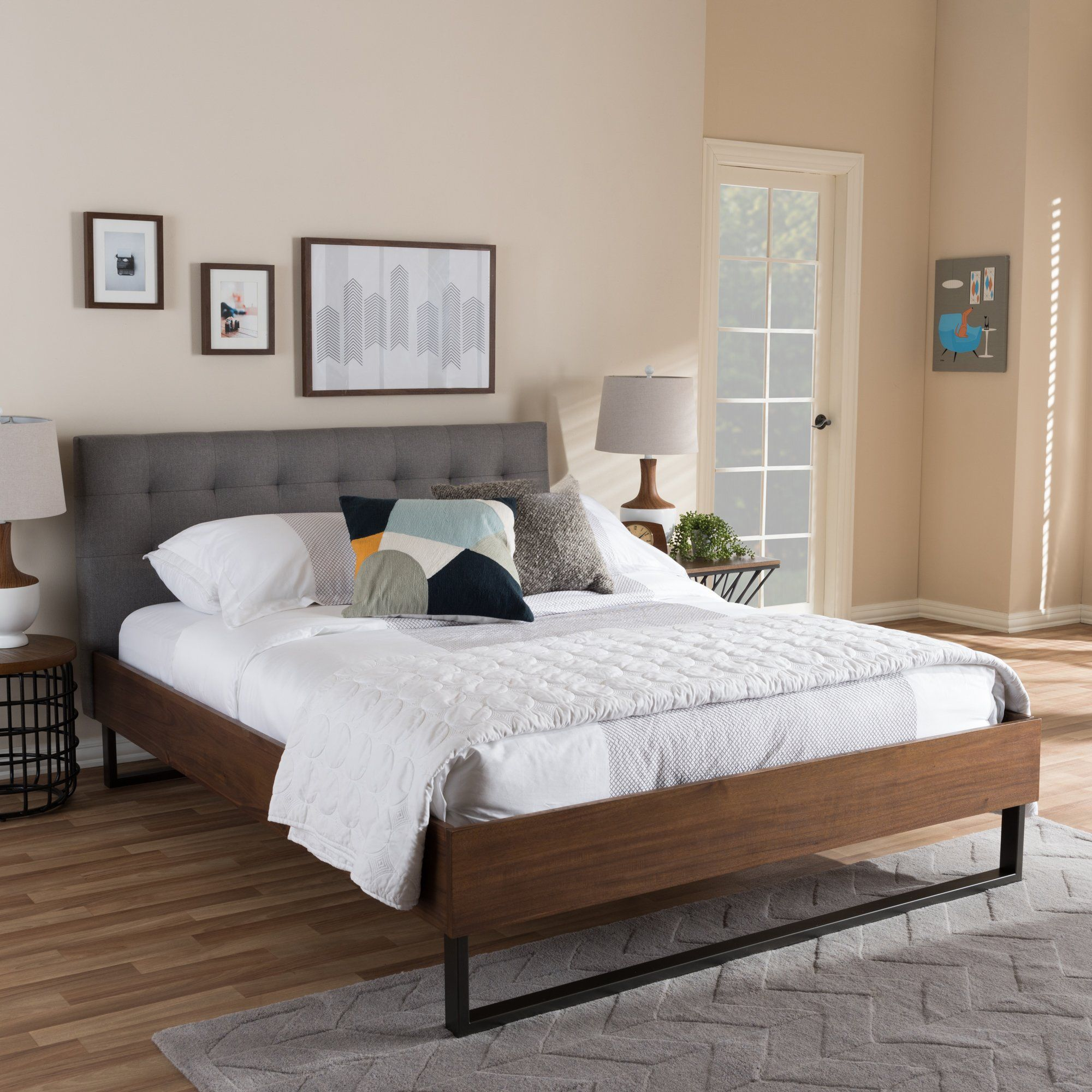Wholesale Interiors Baxton Studio Alberto Upholstered Platform Bed