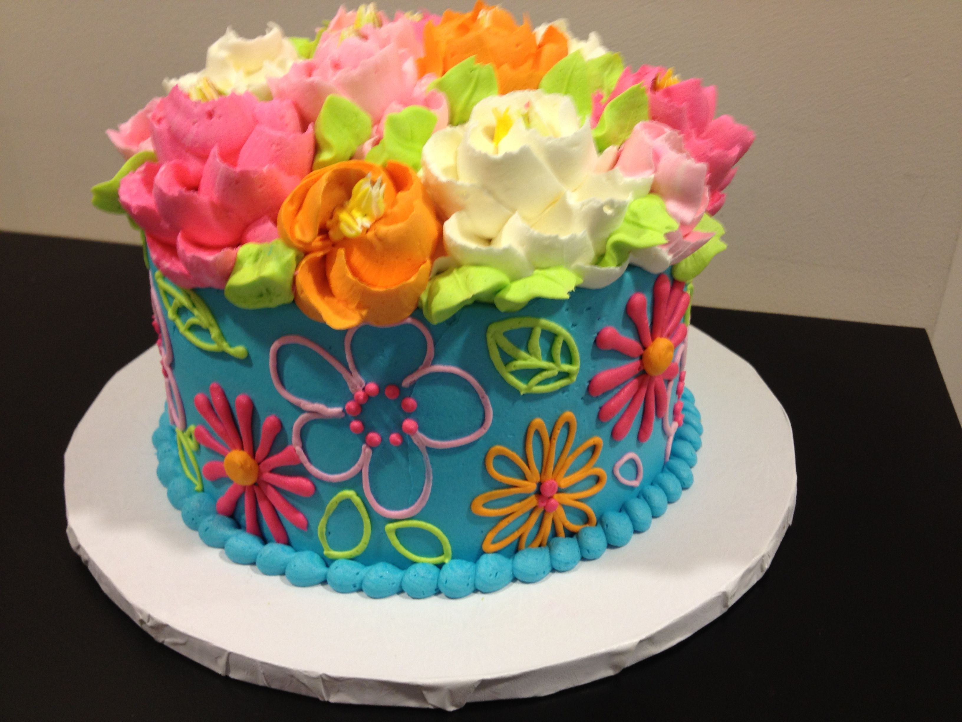Fun and funky buttercream cake by the white flower cake shoppe fun and funky buttercream cake by the white flower cake shoppe dhlflorist Image collections