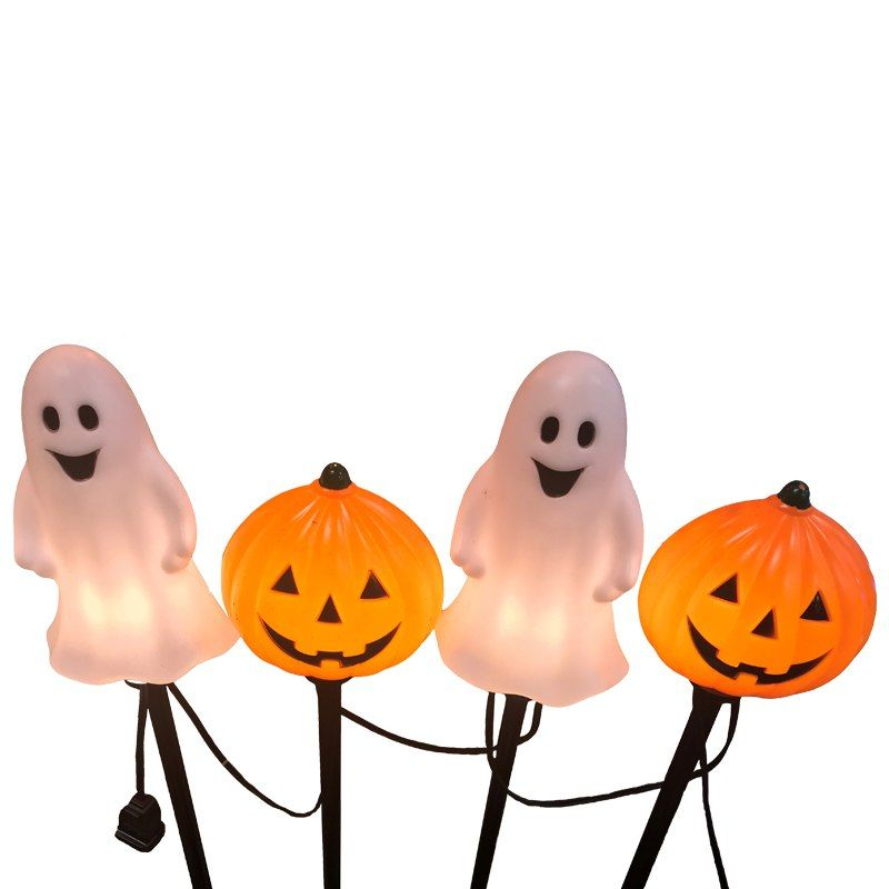 4 Ct Blow Mold Ghost And Pumpkin Pathway Marker Lights 30061076 Vintage Halloween Decorations Halloween Home Decor Blow Molding