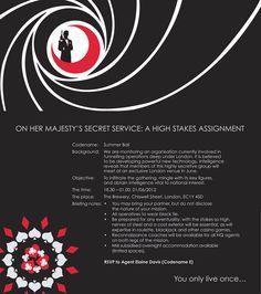 James bond invite Auction Dinner Dance 007 Pinterest James