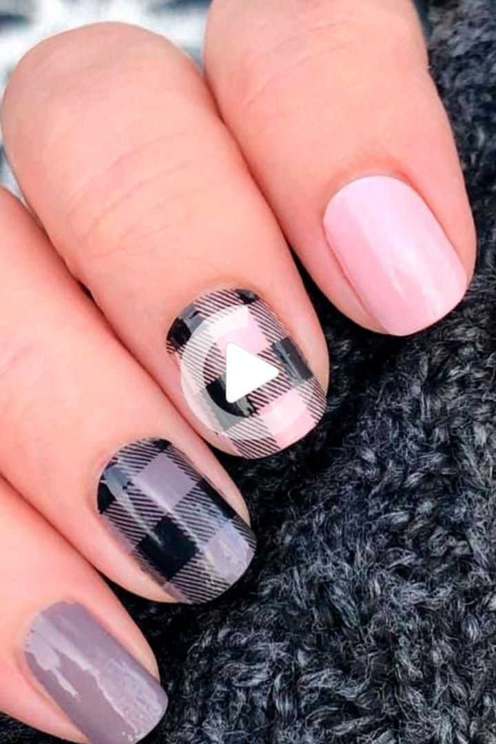 color street combos spring 2020 - Plaid About You over Himalayan Salt and Berlin it to win it nail