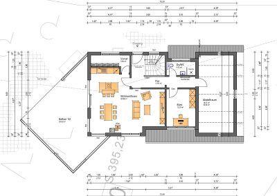 Hanghaus Wohnflaeche 248 m2 Haus design pläne, Haus