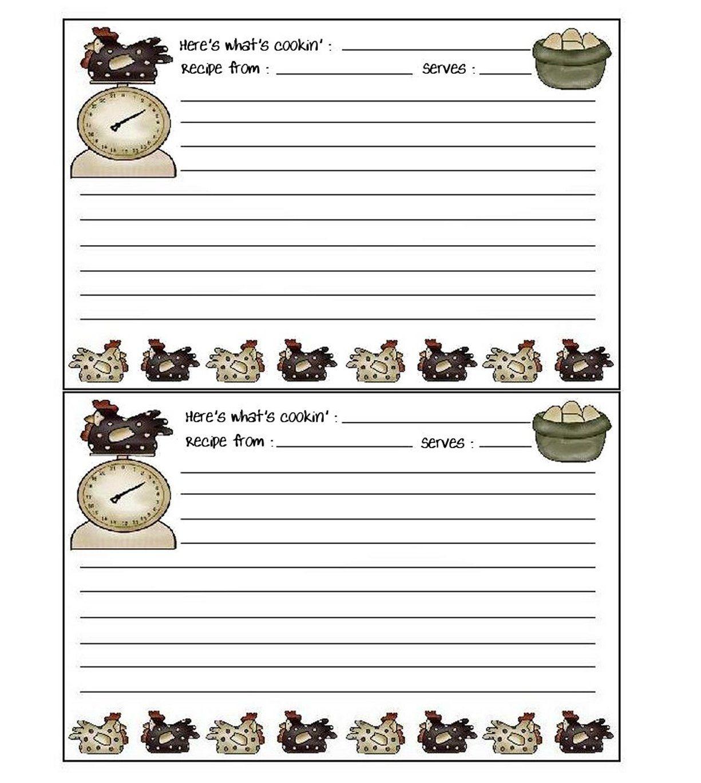 Free Printable Recipe Cards | Etiketten als Vordruck | Pinterest ...