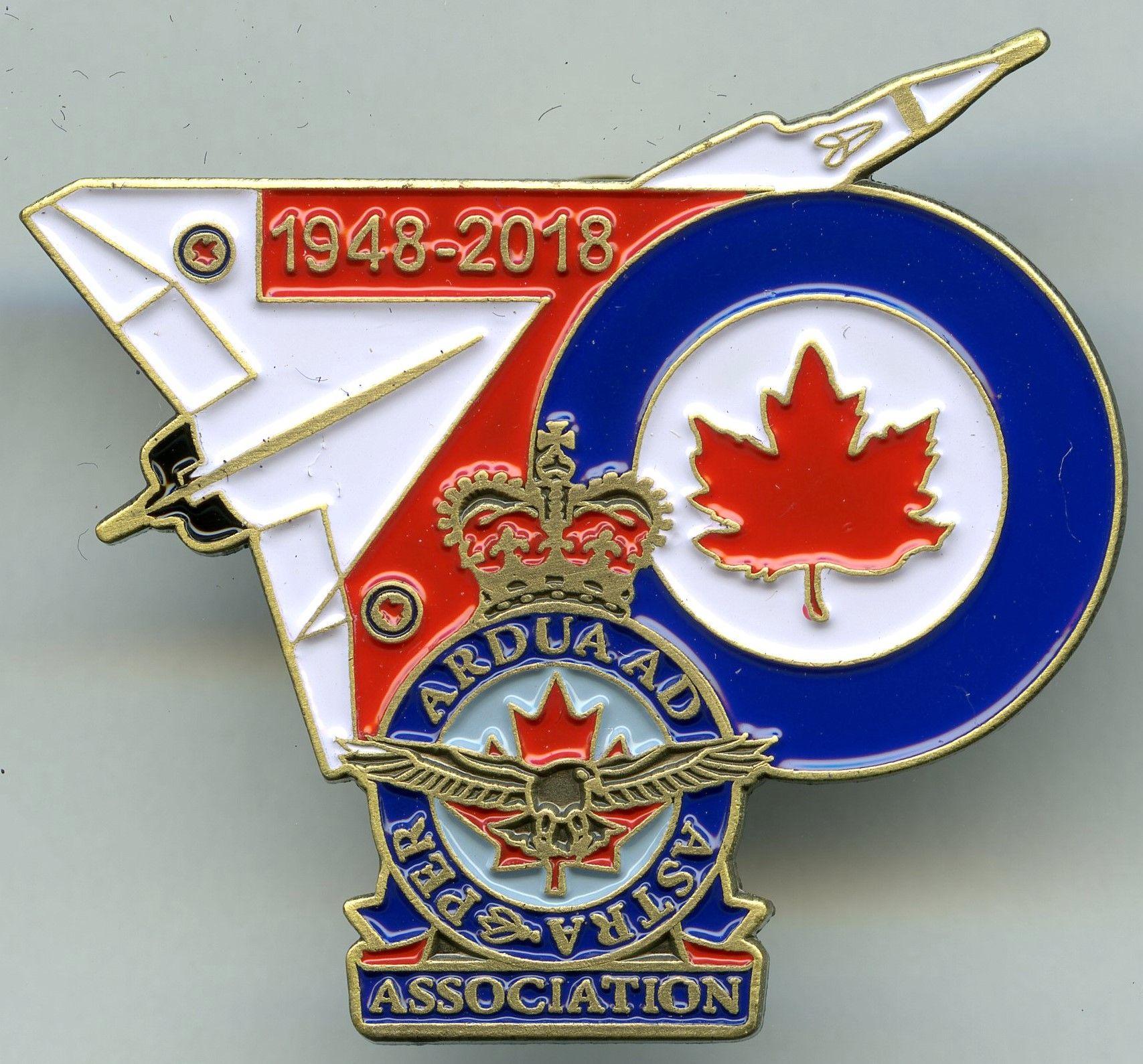 Royal Canadian Air Force Association 70th Anniversary Pin