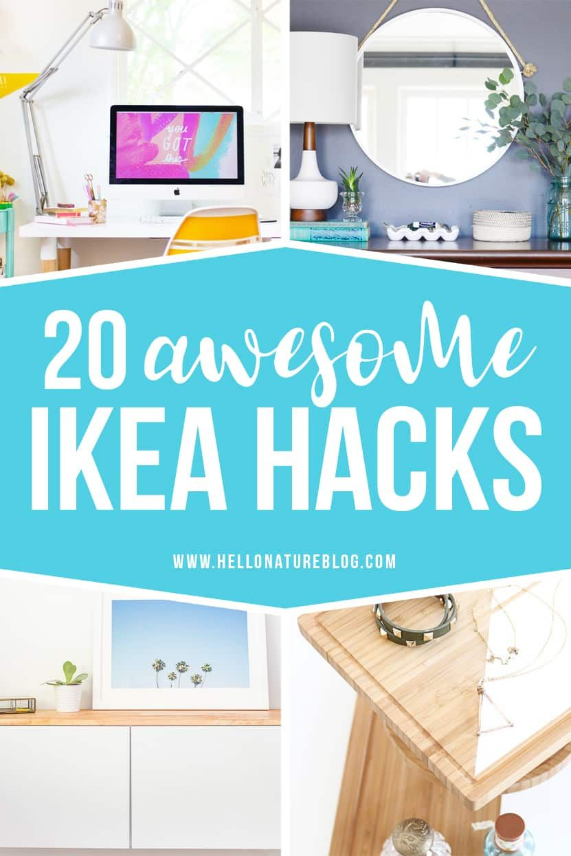 20 Awesome IKEA Hacks You Have to Try is part of  - Upgrade your home with these twenty awesome IKEA hacks! With just a few changes, you'll have customized furniture that's perfect for your home!