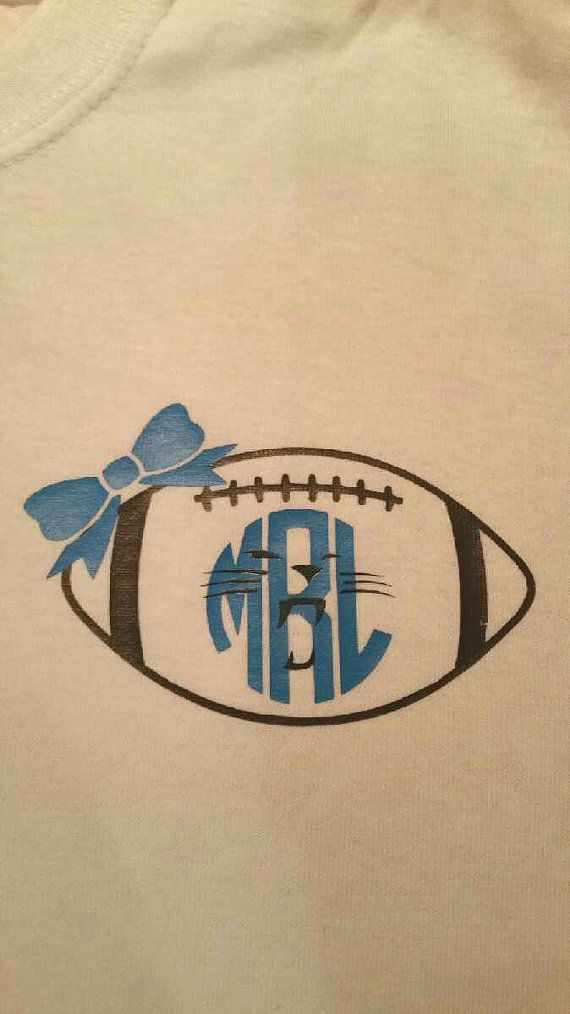 5c16772d2 Short Sleeved Football Monogram Carolina by SecondNatureDesigns1 ...
