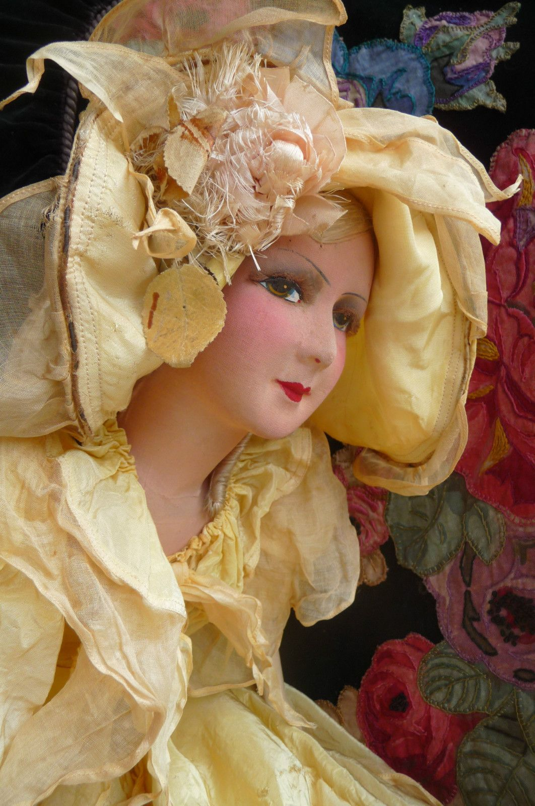 Gorgeous French boudoir doll on Ebay
