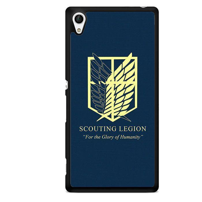 Attack On The Titan Scouting Legion TATUM-1095 Sony Phonecase Cover For Xperia Z1, Xperia Z2, Xperia Z3, Xperia Z4, Xperia Z5