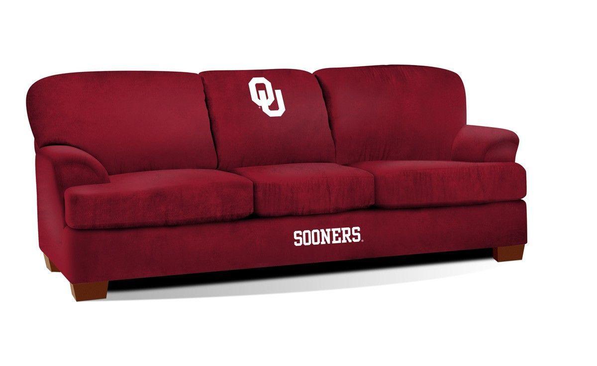 First Team Microfiber Sofa - University Of Oklahoma