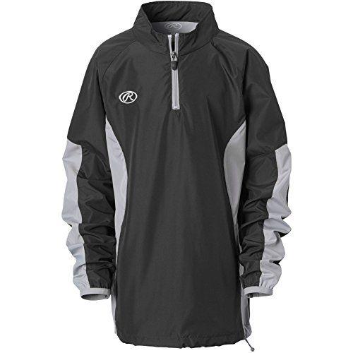 3ac8d4f5ce14 Rawlings Boys Long Sleeve Wind Breaker Jacket Black Large     Read ...